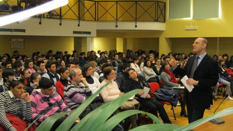 Il pubblico presente alla lezione